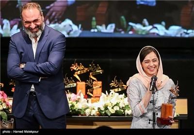 ترانه علیدوستی و حمید فرخنژاد در جشن پایان سریال شهرزاد
