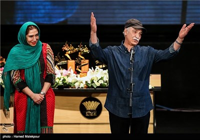 محمود پاکنیت و نسیم ادبی در جشن پایان سریال شهرزاد