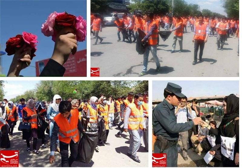 نظافت تظاهرات کابل 11