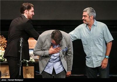 سروش صحت، سام نوری و امیرحسین فتحی در جشن پایان سریال شهرزاد