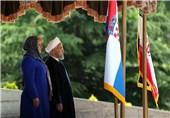 استقبال رسمی روحانی از رئیسجمهور کرواسی