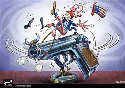 کاریکاتور/ قانون آزادی حمل سلاح در آمریکا