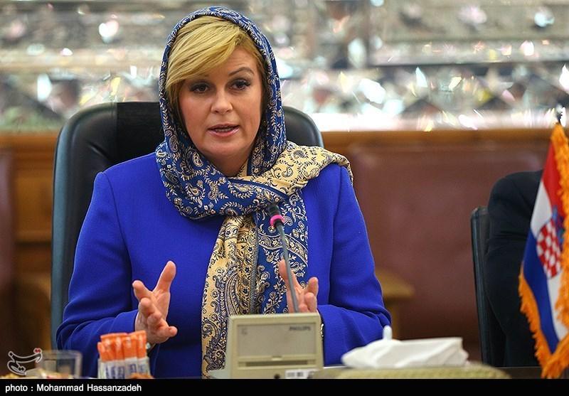 دیدار رئیس جهور کرواسی با رئیس مجلس شورای اسلامی