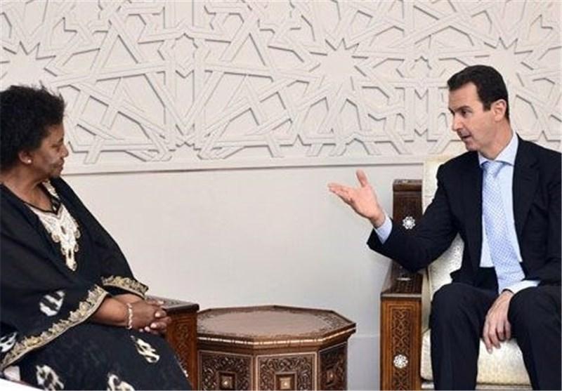 اسد و رئیس جمهور آفریقای جنوبی