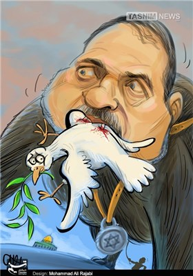 کاریکاتور/ لیبرمن صلح جو!!!