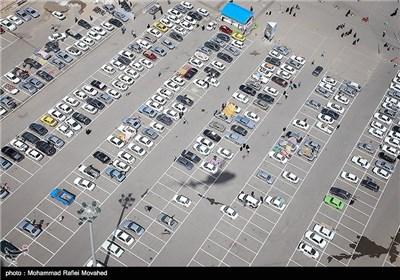تصاویر هوایی شهر قم یک روز پیش از نیمه شعبان