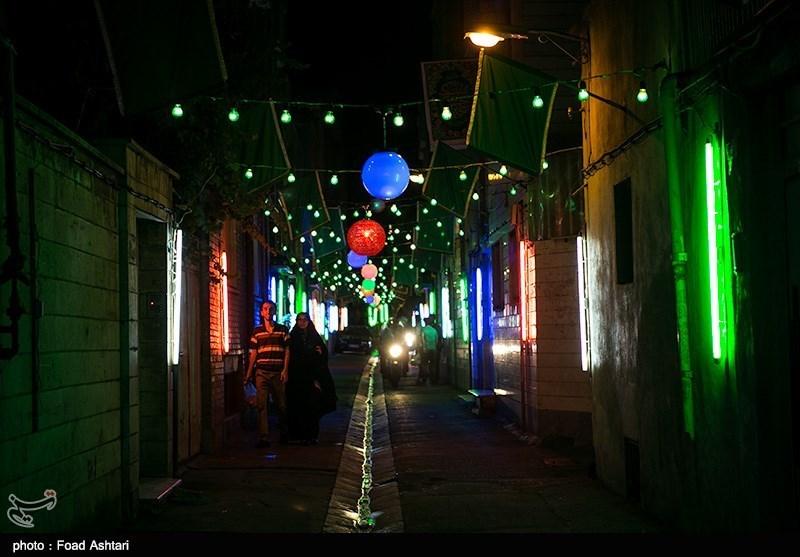 آذین بندی خیابان های تهران به مناسبت نیمه شهبان