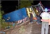 7 کشته و 25 زخمی در حادثه واژگونی اتوبوس گردشگران در تایلند
