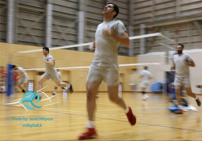 تمرین والیبال