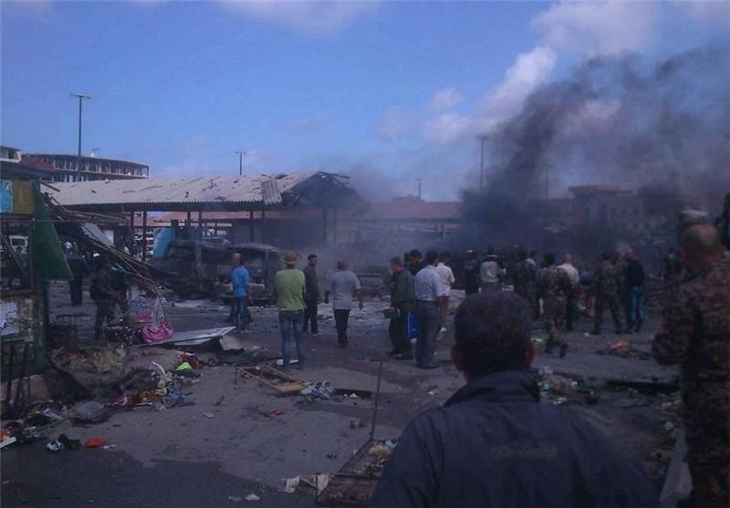 وقوع انفجارهای شدید در شهر جبله سوریه + تصاویر