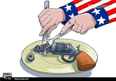 کاریکاتور/ آزادی خرید و فروش و حمل اسلحه در آمریکا