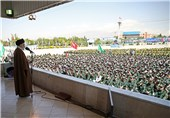 اتفاقی نادر در مراسم سخنرانی رهبر معظم انقلاب در دانشگاه امام حسین(ع)