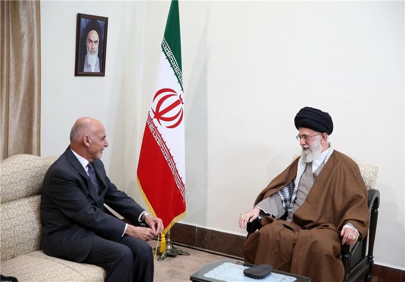 رئیسجمهور افغانستان با امام خامنهای دیدار کرد