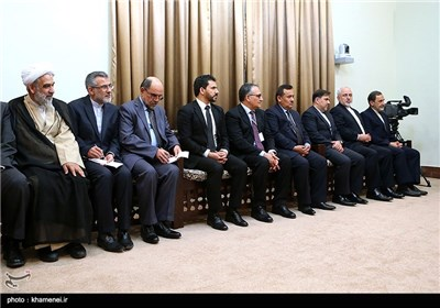 دیدار رئیس جمهور افغانستان با مقام معظم رهبری