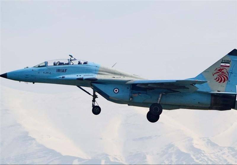 هبوط اضطراری لمقاتلة میغ 29 ایرانیة واصابة أحد طیاریها بجروح