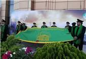 مراسم اهتزاز پرچم امام رضا (ع) در کمیته ملی المپیک برگزار شد
