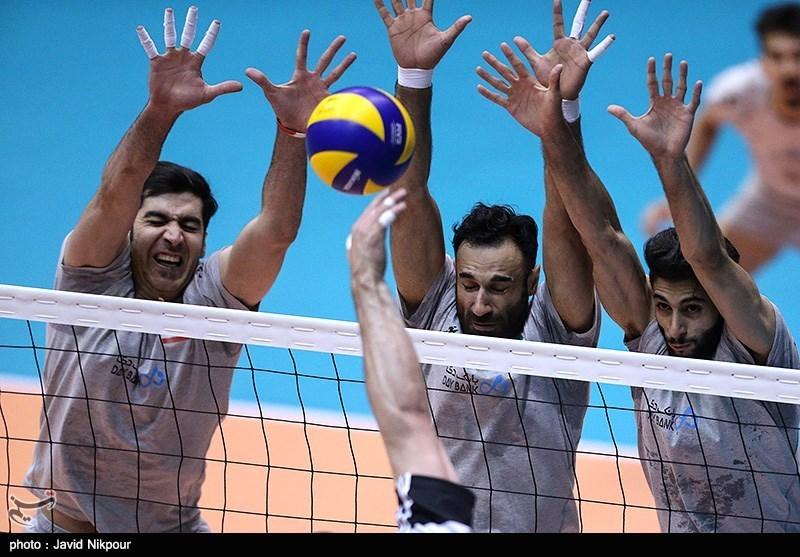 دیدار دوستانه ی تیم های والیبال ایران و لهستان