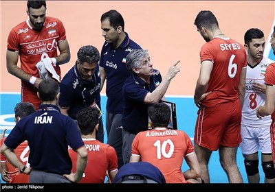 Iran Volleyball Team Wins Second Match at Olympic Qualification Tournament
