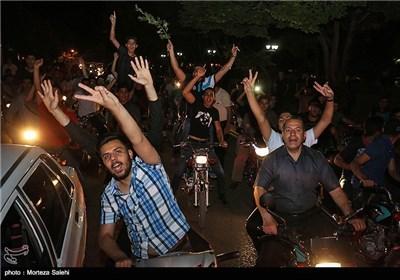 شادی مردم اصفهان پس از قهرمانی ذوب آهن