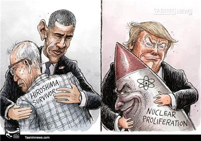کاریکاتور/ سفر بدون عذرخواهی اوباما به هیروشیما