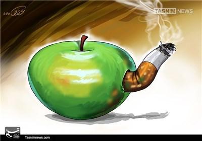 کاریکاتور/ سیگار آفت سلامتی!