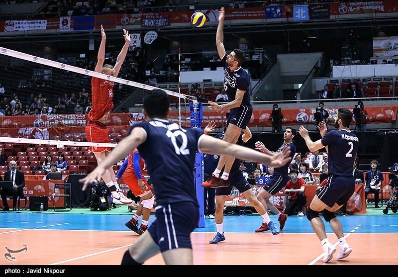 دیدار تیم های والیبال ایران و فرانسه