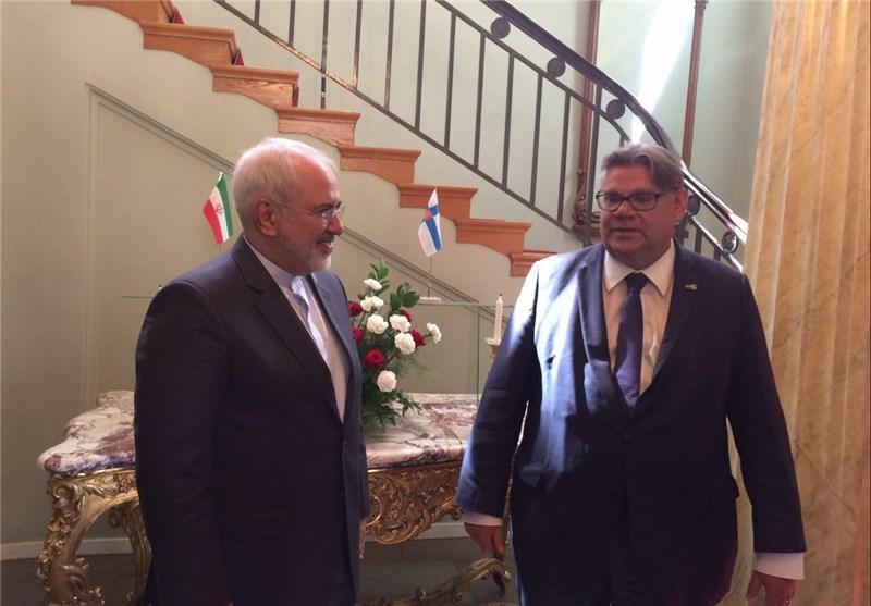 Iranian, Finnish FMs Hold Talks in Helsinki