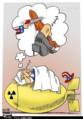 کاریکاتور/ خواب اره کردن موشکهای ایران