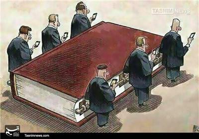 کاریکاتور/ مراسم تشییع جنازه کتاب