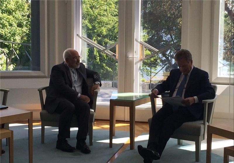 ظریف رئیس جمهور فنلاند