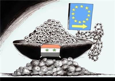 کاریکاتور/ اروپا و قتل عام مهاجران !!!