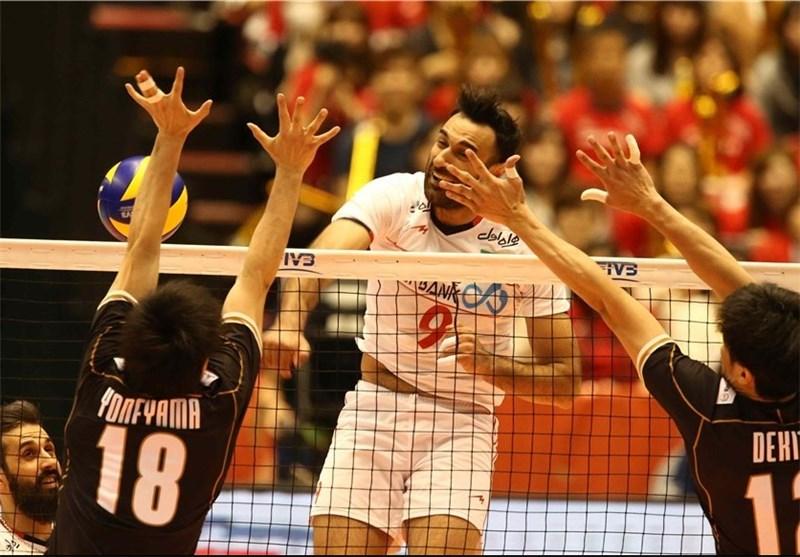 والیبال ایران ژاپن عادل غلامی