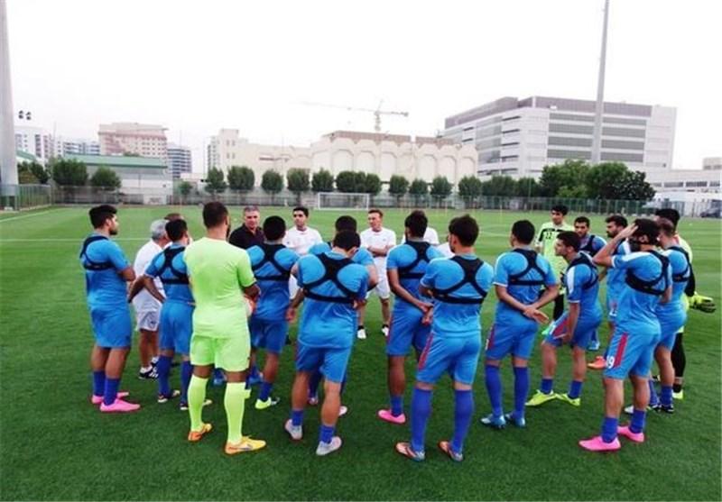 تمرین تیم ملی ایران در مقدونیه