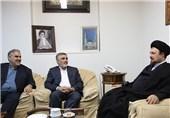 فرمانده و مسئولان حفاظت سپاه پاسداران با سیدحسن خمینی دیدار کردند