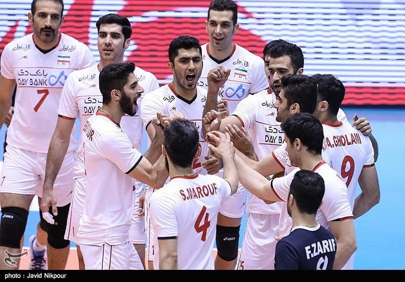 دیدار تیمهای والیبال ایران و ونزوئلا