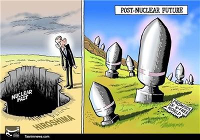 کاریکاتور/ بمبهای هستهای آمریکا در گذشته و آینده