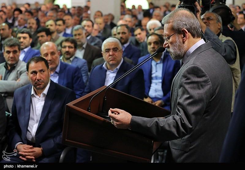 دیدار رئیس و نمایندگان مجلس دهم با مقام معظم رهبری