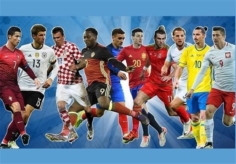 مهاجمان یورو 2016