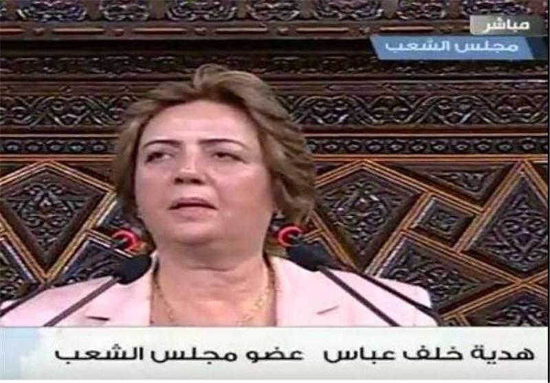 انتخاب هدیة عباس کأول سیدة لتولی رئاسة البرلمان فی سوریا