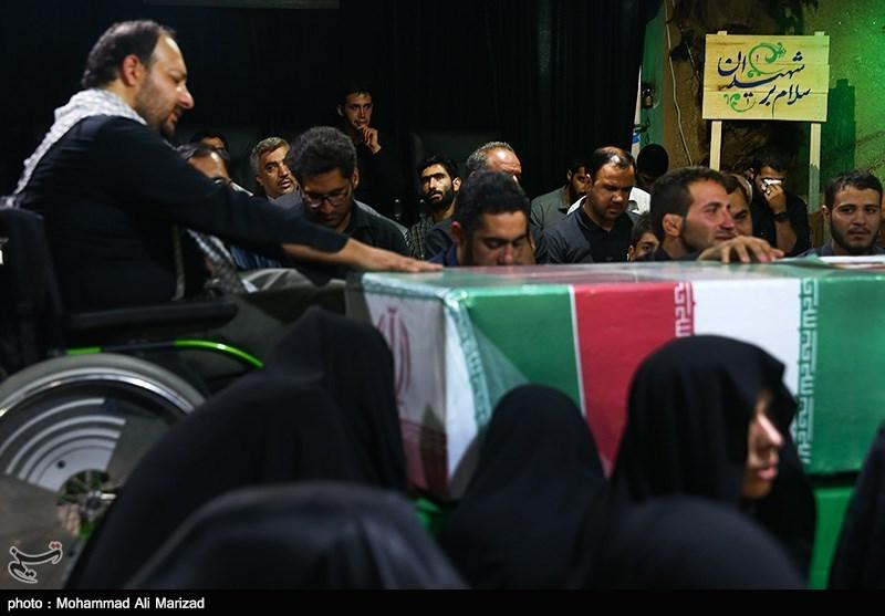 مراسم وداع با پیکر دو شهید مدافع حرم-معراج شهدا