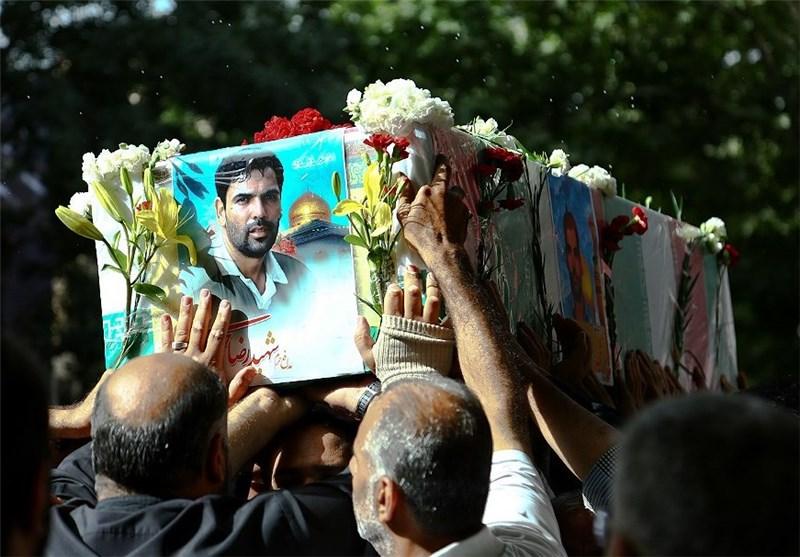 تشییع شهید خرمی