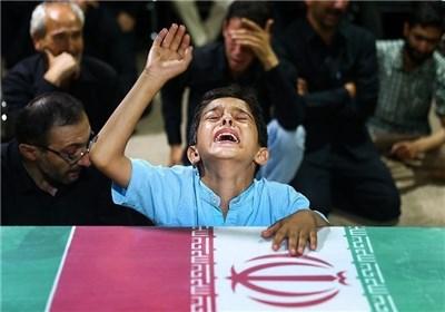 مراسم وداع با پیکردو شهید مدافع حرم