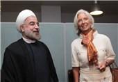دیدار روحانی با رئیس صندوق پول