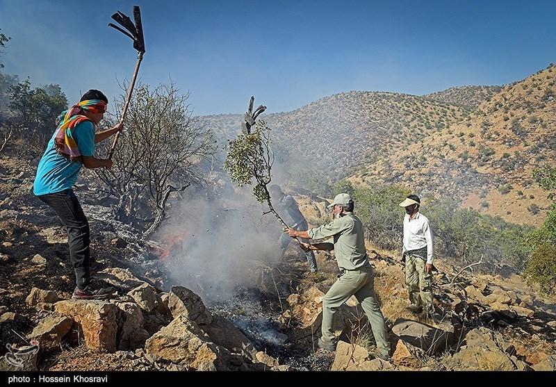 آتش سوزی گسترده در پاسارگارد - فارس