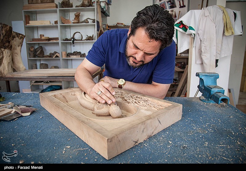 ساخت چوب دازینگ İran'da Kakmacılık Sanatı - Kermanşah - Tesnim Haber Ajansı