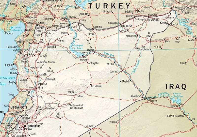 نقشه سوریه