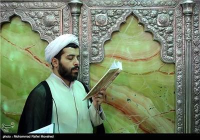 ترتیل اجزاء القرآن الکریم فی حرم السیدة فاطمة المعصومة (ع) فی قم المقدسة