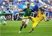 تساوی اوکراین و ایرلند شمالی در نیمه اول
