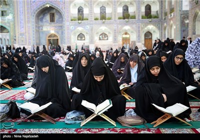 Pilgrims Recite Quran at Imam Reza Shrine in Mashhad