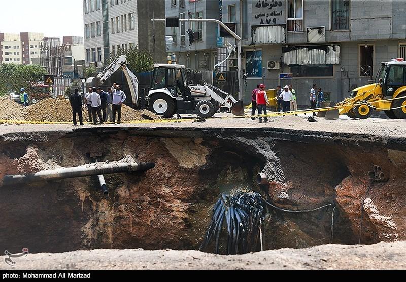 اشتعال انابیب الغاز یؤدی الى انفجار فی غرب طهران + صور